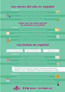 Los meses del año en español