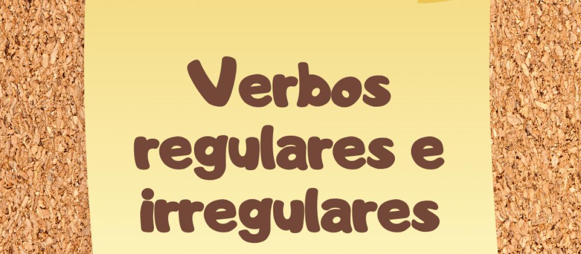 Verbes Reguliers Et Irreguliers Blog Ele